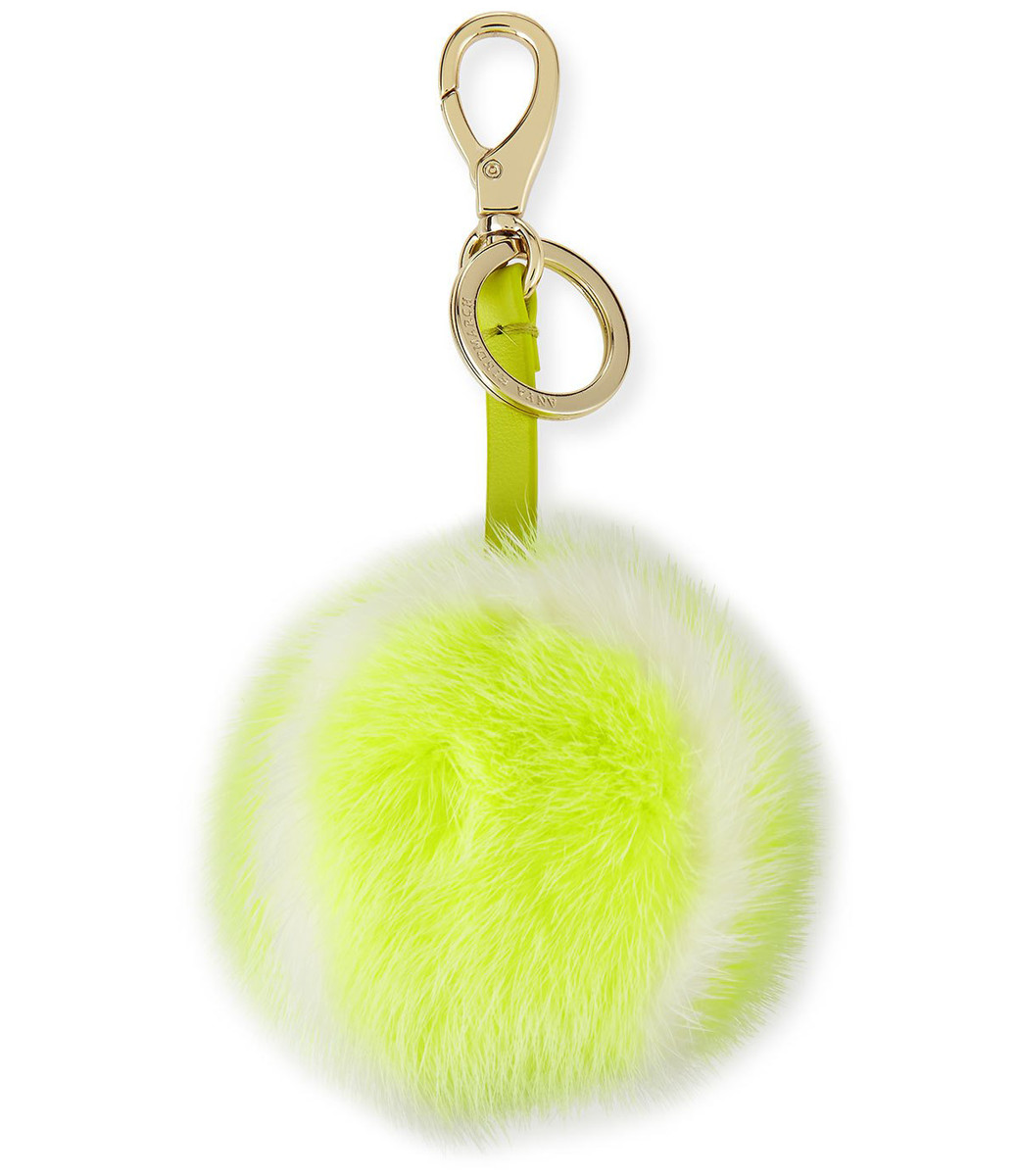 Anya Hindmarch Fur Tennis Ball Charm