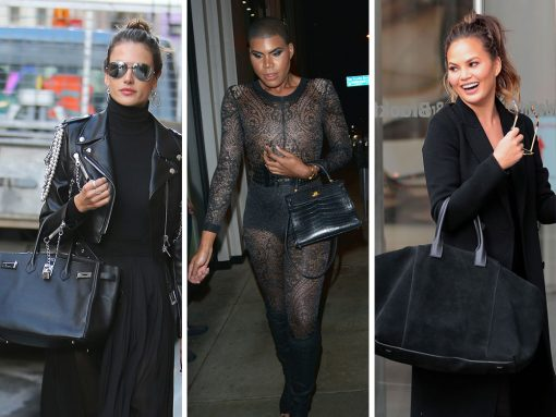 Celebs Hit the Streets of Paris, LA, & NYC with Big Black Bags from Hermès, Aerin, & Stella McCartney