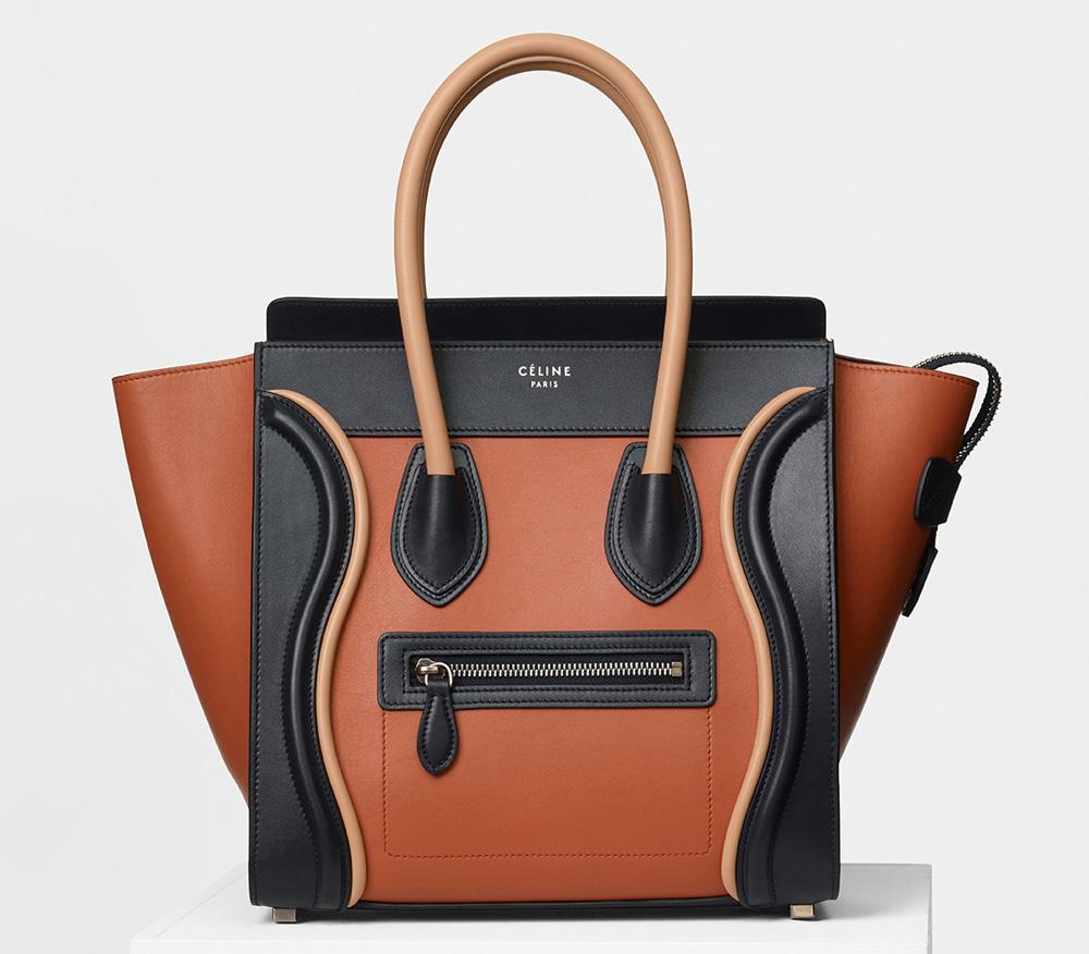 Celine Micro Luggage Tote Tricolor Terracotta 3400