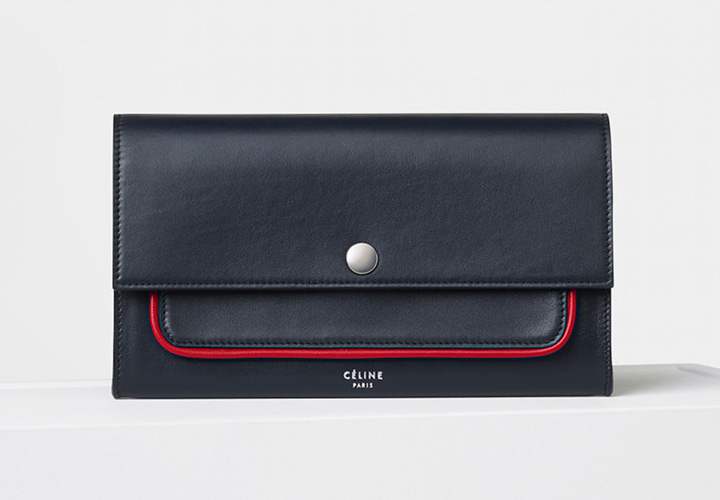 celine-piping-large-flap-multifunction-navy