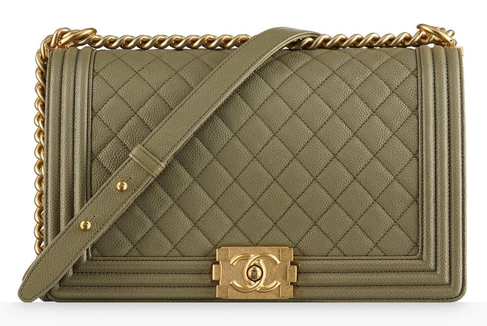 Chanel Boy Bag Khaki 5200