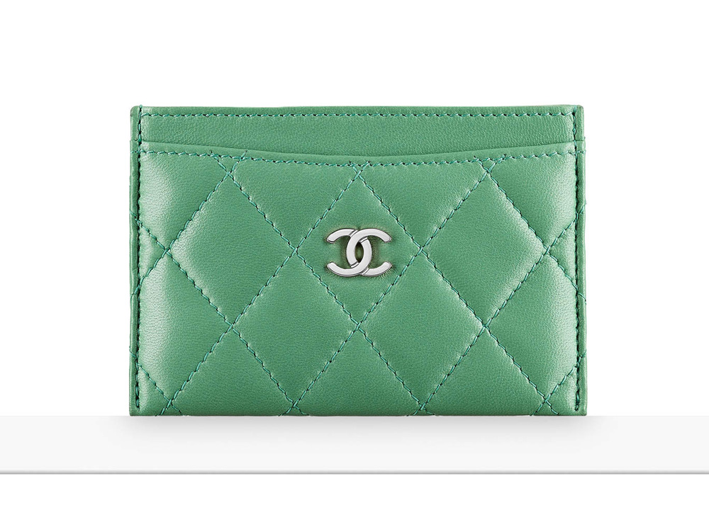 chanel-card-holder-green-400