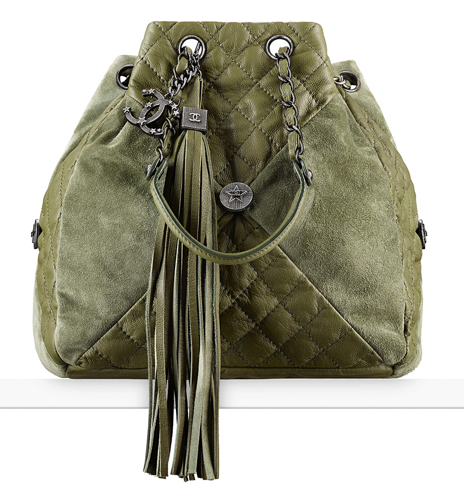chanel-drawstring-bag-green-3800