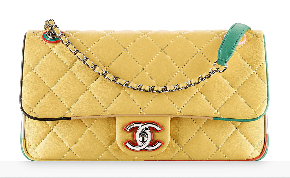chanel-flap-bag-yellow-3300