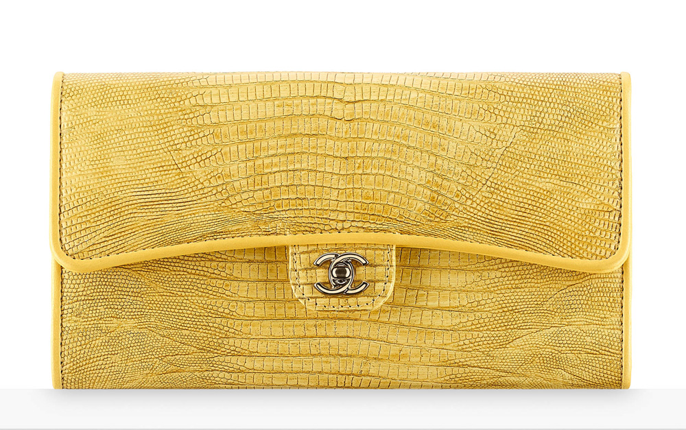 chanel-lizard-flap-wallet-yellow-2450