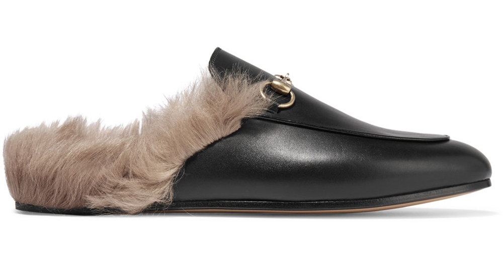 gucci-horsebit-detailed-shearling-lined-leather-slippers