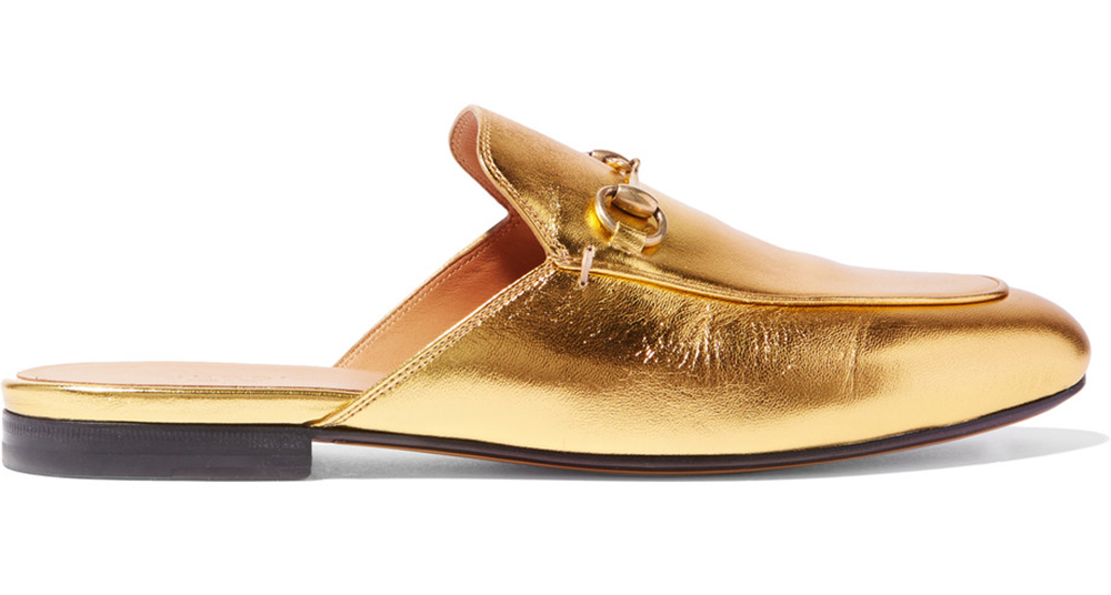 0798698da gucci-princetown-horsebit-detailed-metallic-leather-slippers