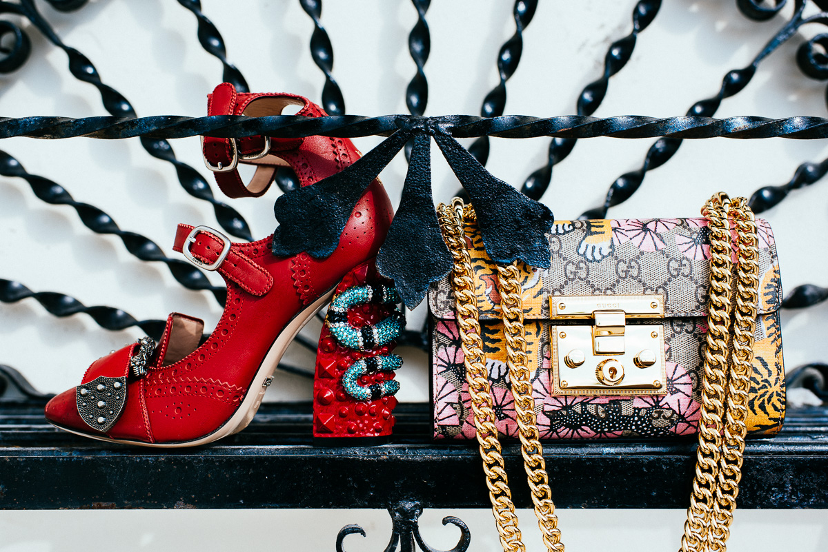 Gucci Queercore brogue pump & Gucci Padlock Gucci Bengal shoulder bag