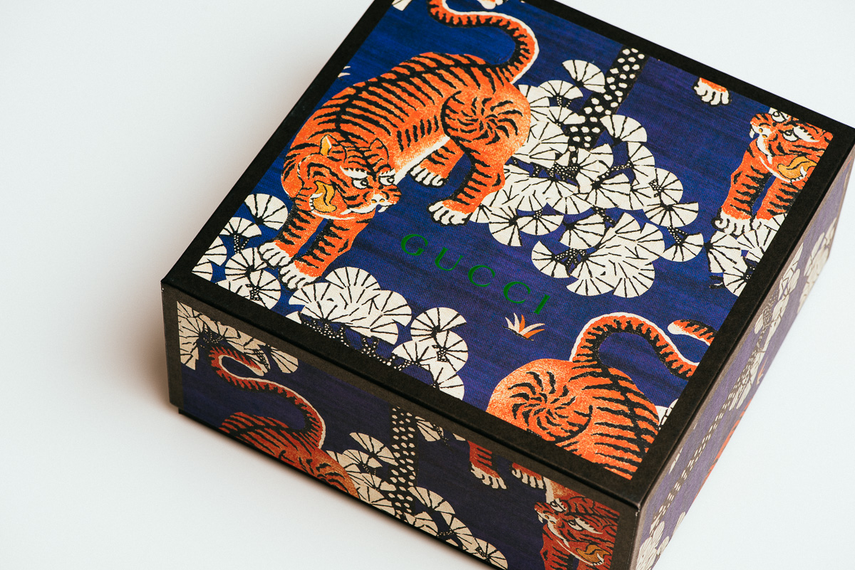 Detail: Gucci Bengal Tiger Product Box