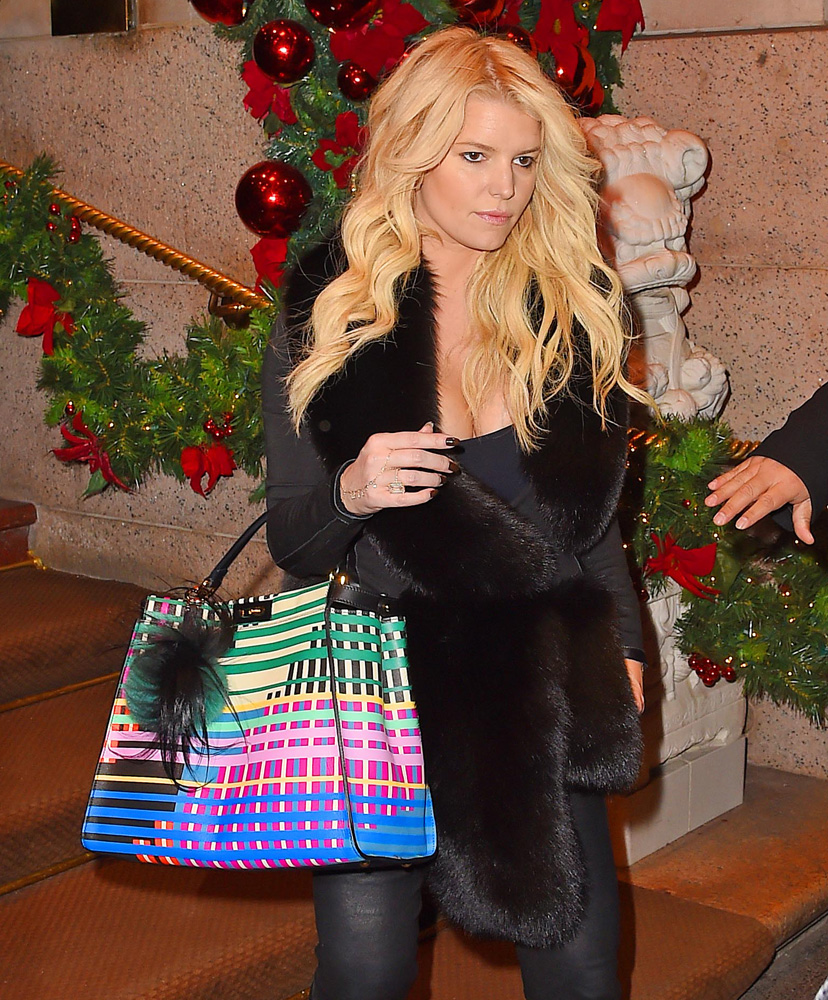 jessica-simpson-fendi-painted-leather-peekaboo-bag