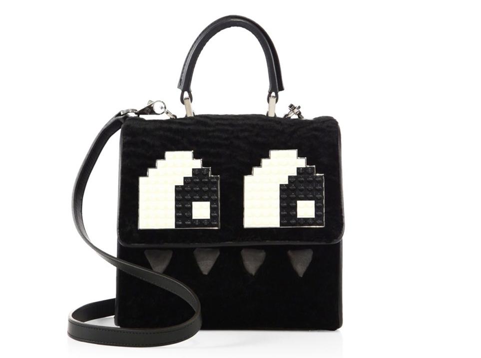 les-petits-joueurs-mini-alex-eyes-shearling-leather-top-handle-bag