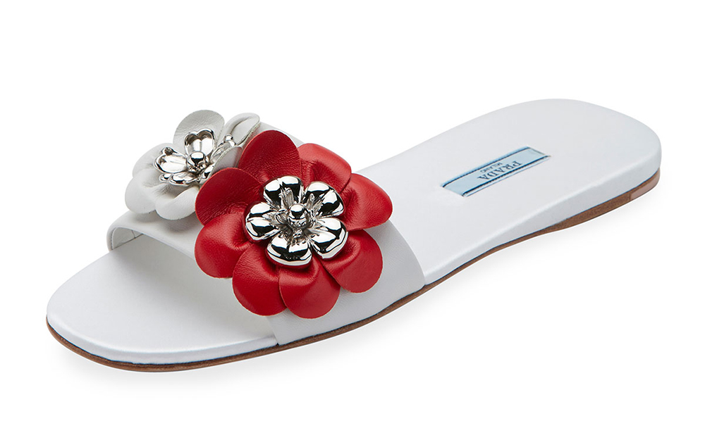 prada-floral-embellished-leather-flat-slide