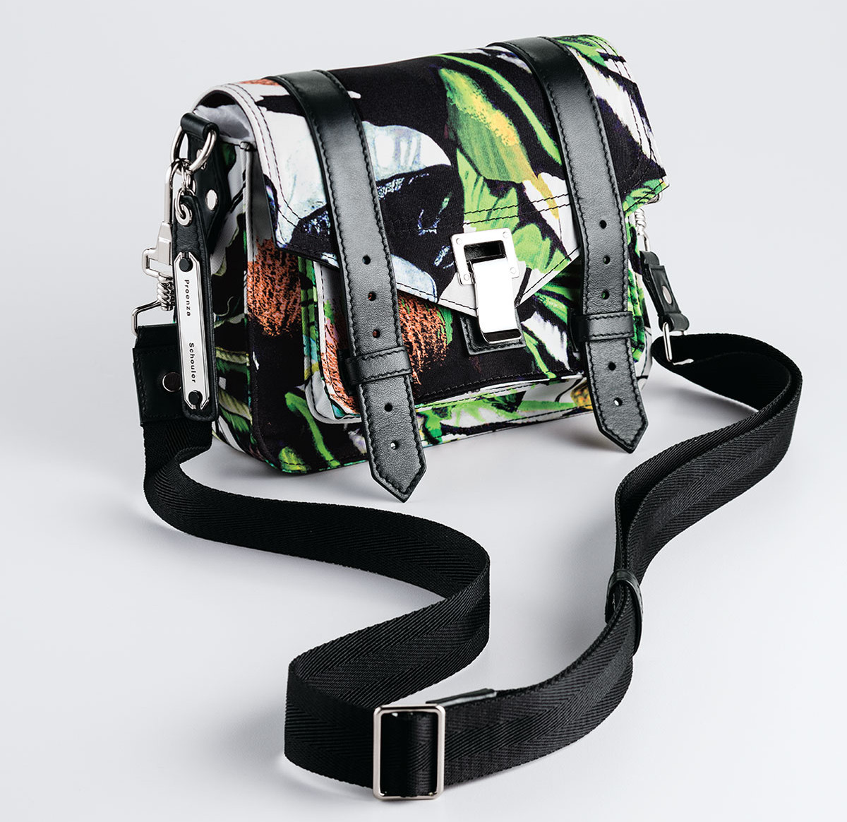 Proenza Schouler PS1 Nylon Tropical-Print Pouch Bag