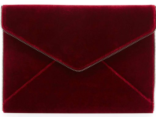 Rebecca Minkoff Leo Velvet Envelope Clutch Bag