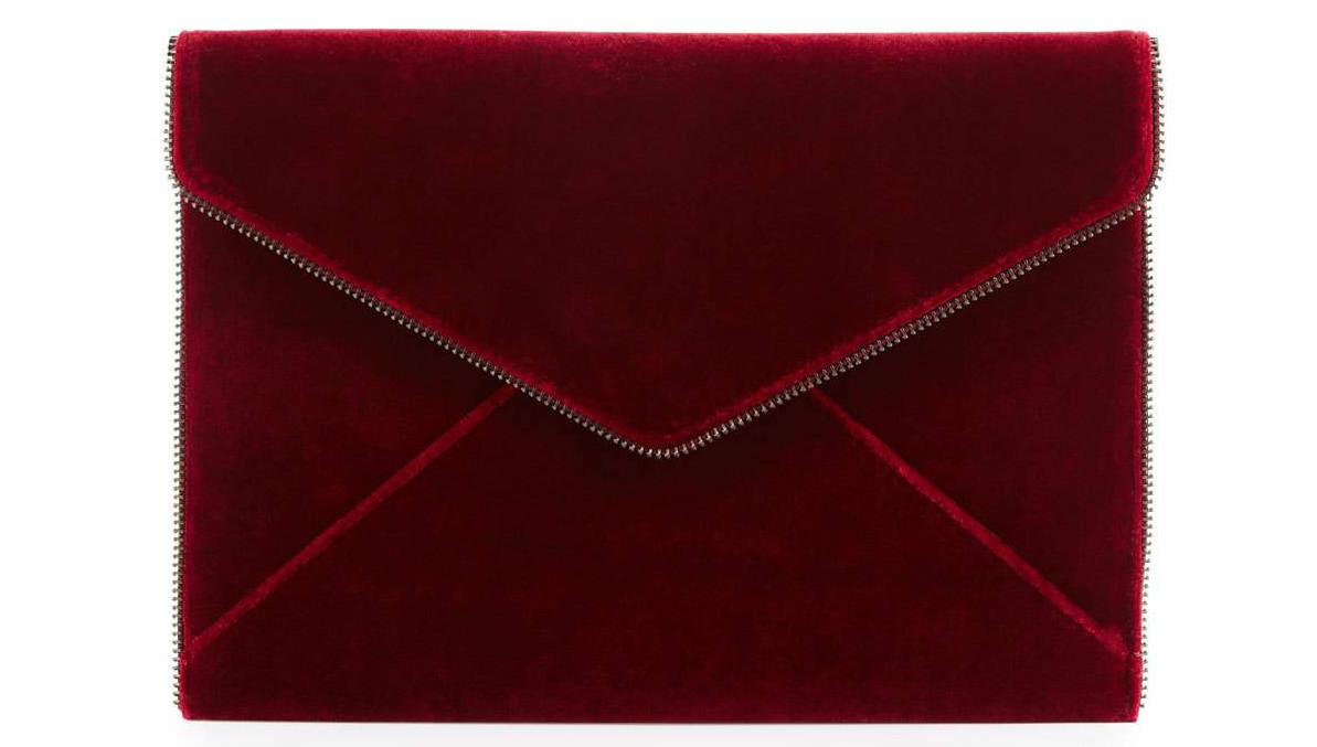 Rebecca Minkoff Leo Velvet Envelope Clutch Bag