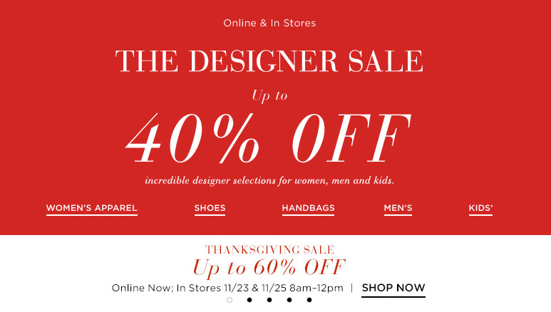 For Saks Fifth Avenue we currently have 3 coupons and 1 deals. Our users can save with our coupons on average about $ Todays best offer is Up To 40% Off Designer Items.