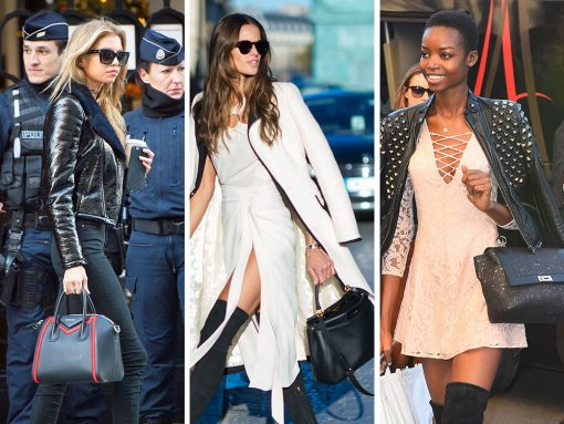 Victoria's Secret Models and Their Fantastic Handbags Swarm Paris