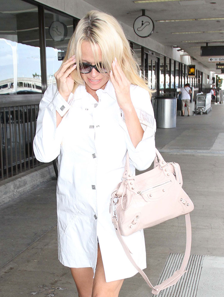 pamela-anderson-balenciaga-first-bag