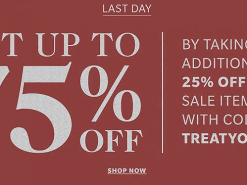 Take an Addition 25% Off Sale Prices at Shopbop!