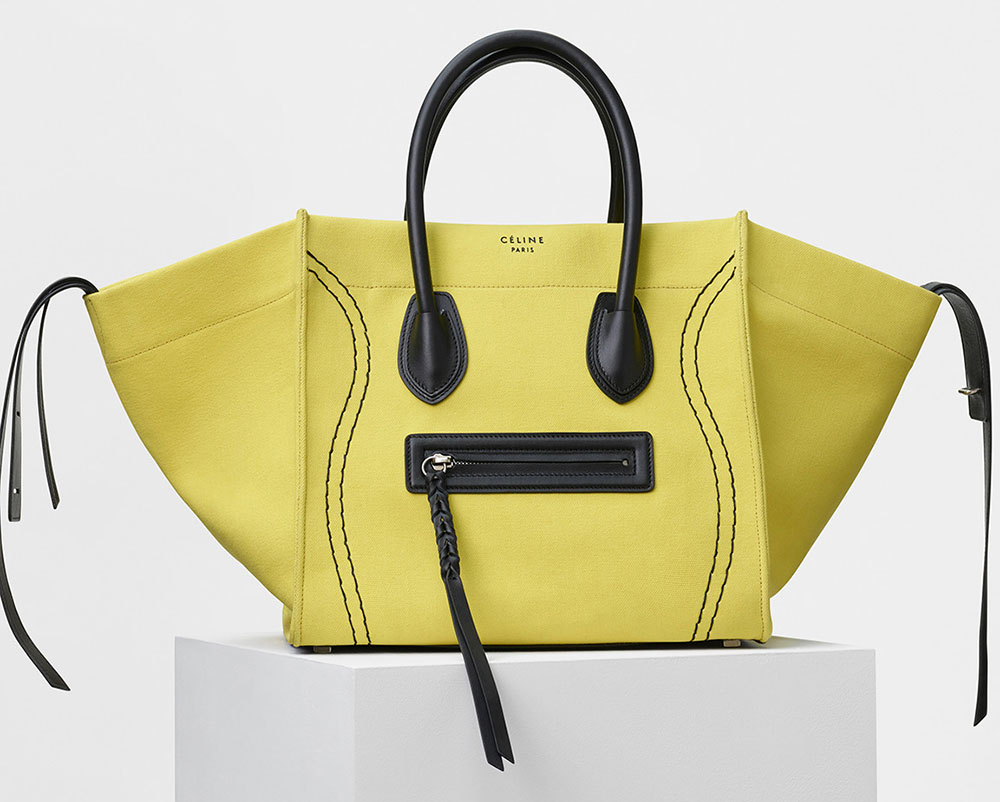 969d2cbde946 Celine-Phantom-Luggage-Tote-Yellow-Canvas - PurseBlog