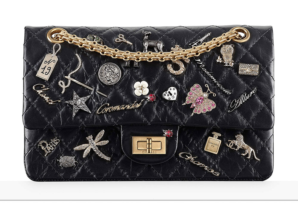 Chanel 2 55 Charms Flap Bag