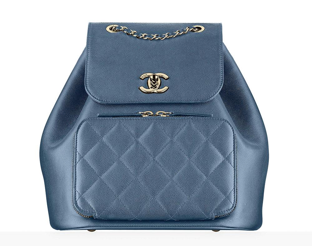 Chanel Backpack Blue 3900