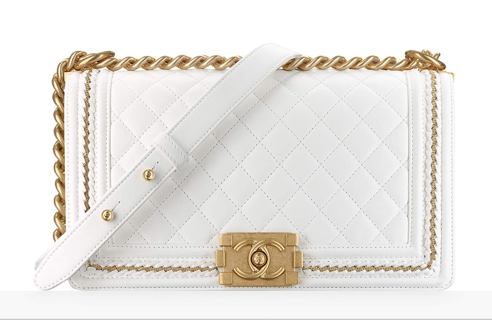 Chanel Boy Bag White 5200 Purseblog