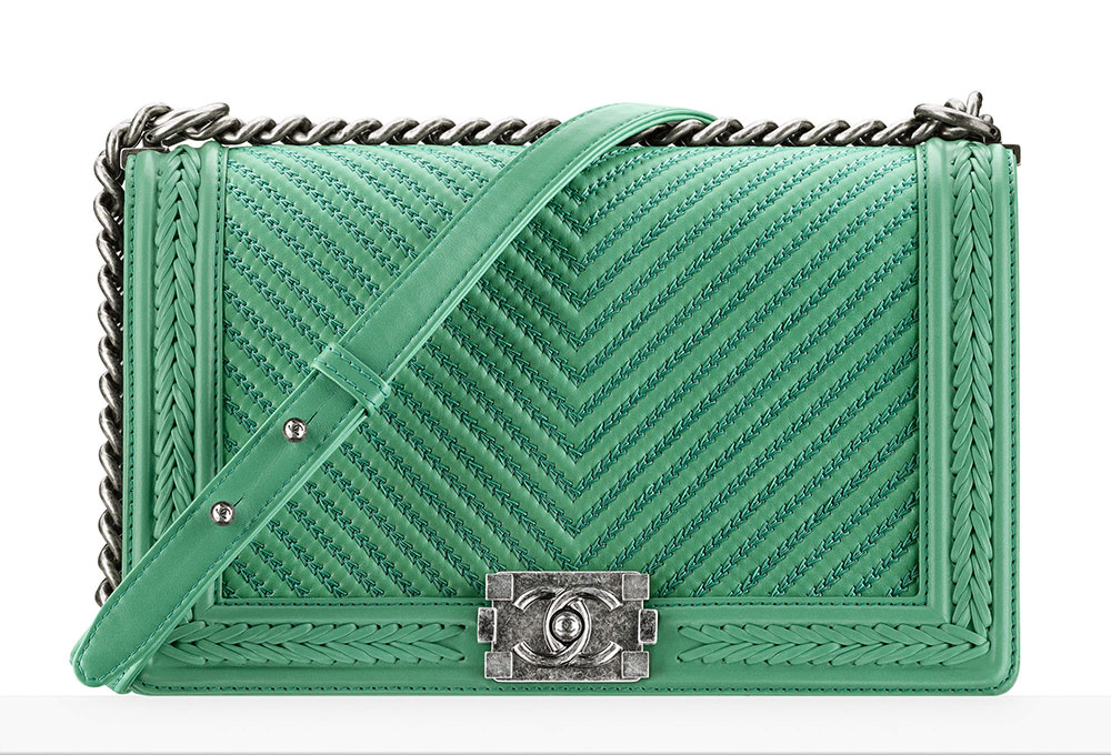 37f7f8a2e4e5 Chanel-Large-Boy-Bag-Green-5400 - PurseBlog