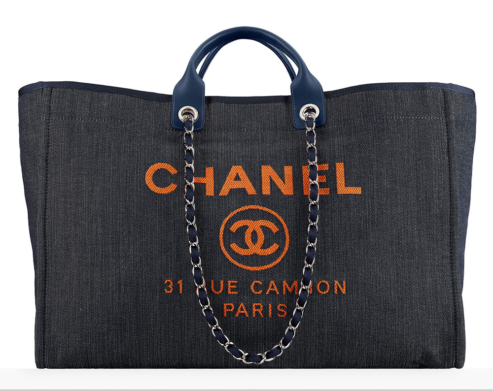 Chanel Large Denim Ping Bag