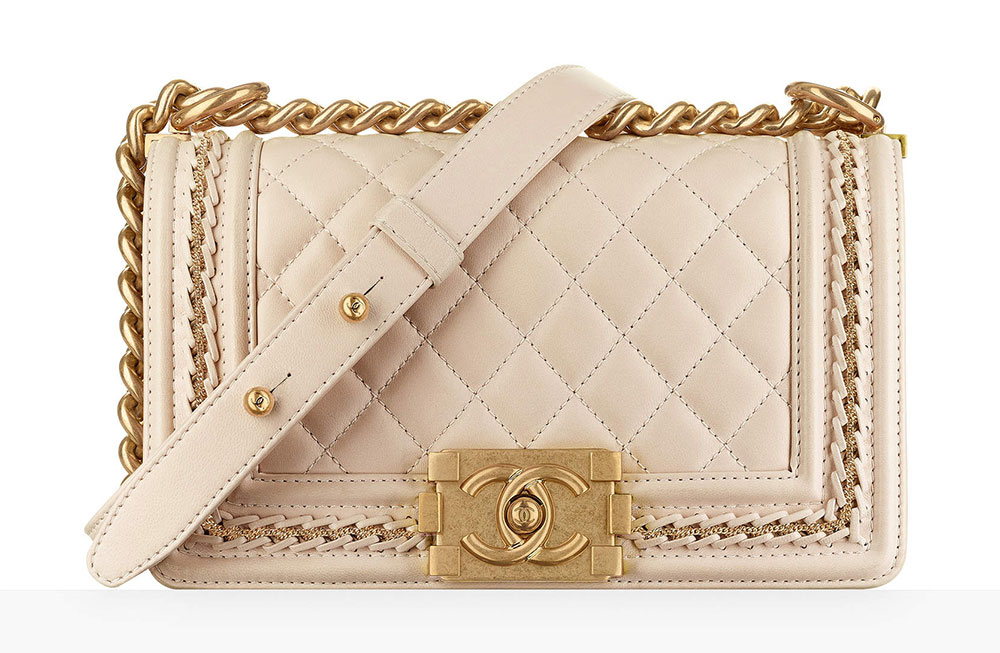 Chanel Small Boy Bag Beige 4700