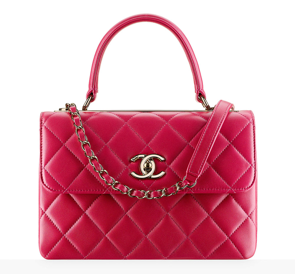 bef1b612dead Chanel-Top-Handle-Flap-Bag-Pink-5600 - PurseBlog