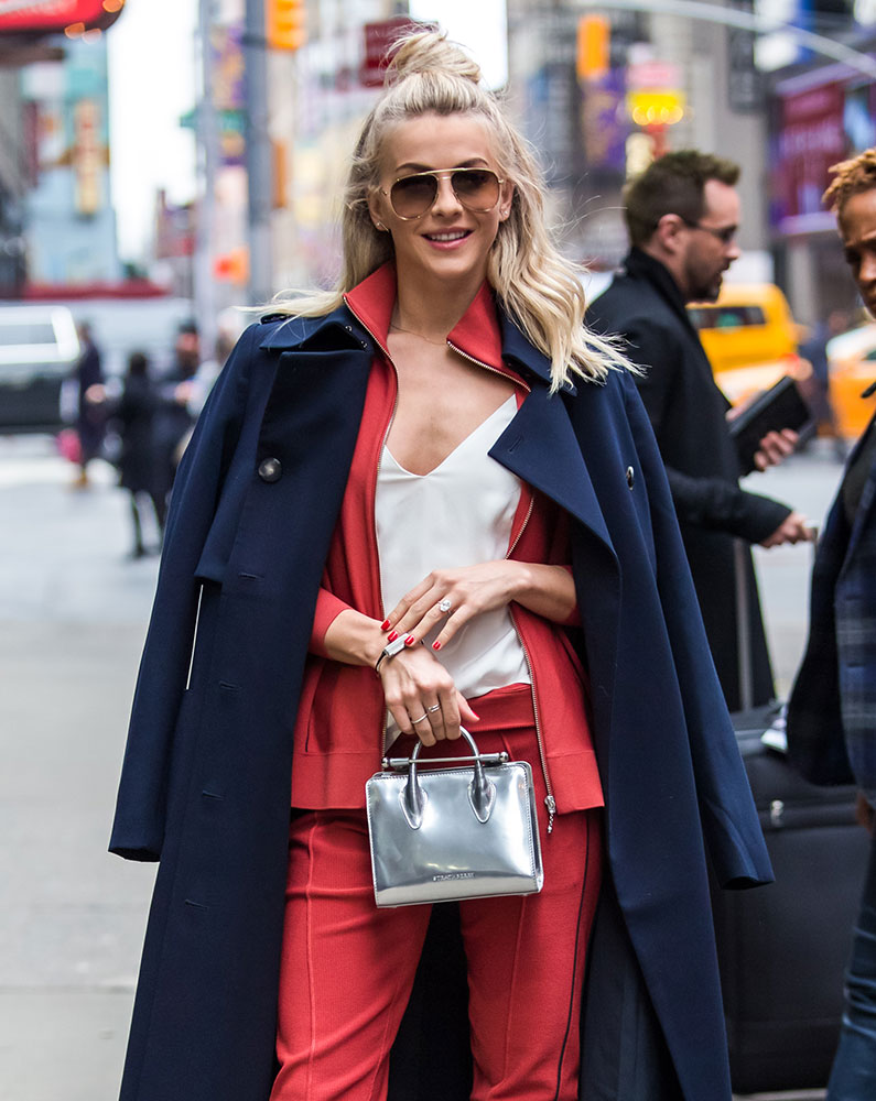 bright red  logos and stella mccartney were the