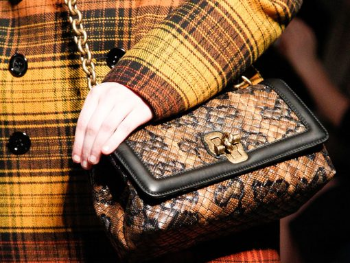Bottega Veneta Delights with Ultra-Luxe Fall 2017 Runway Bags for Both Men and Women