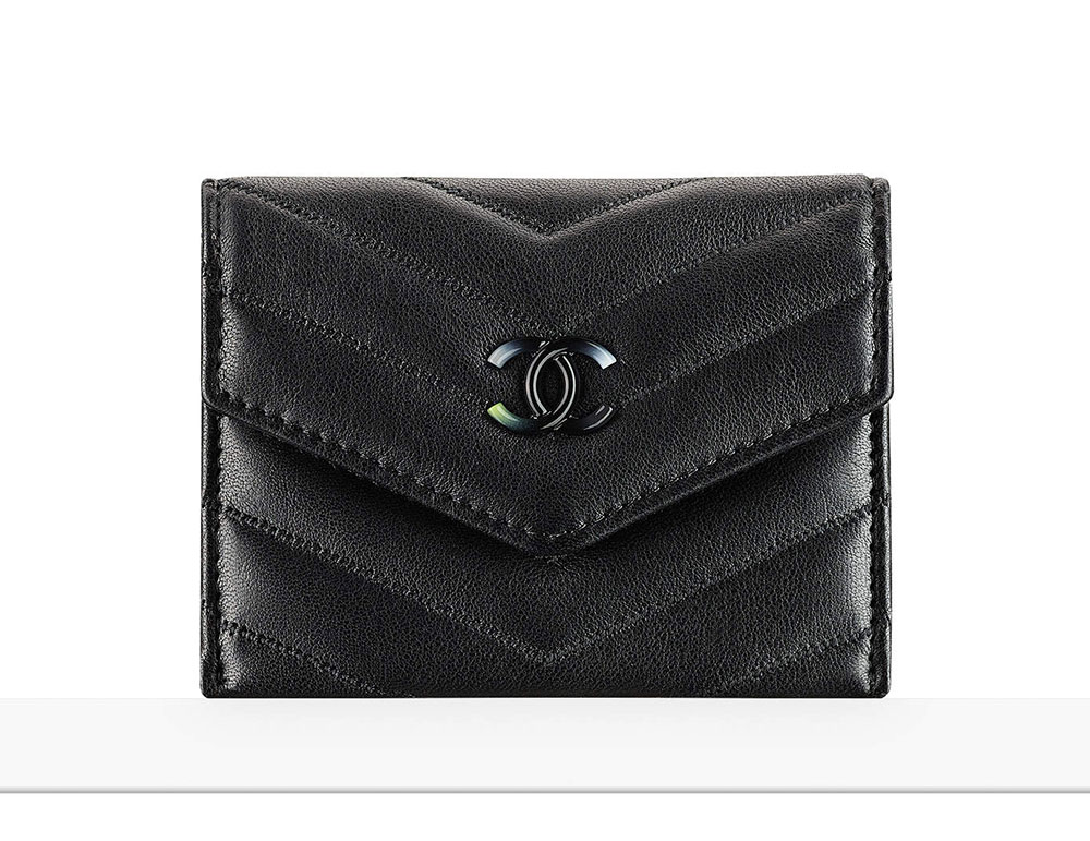 chanel zip card case. chanel card holder zip case g