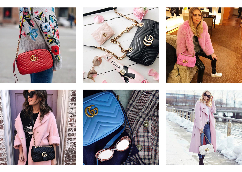 36eb86e3a5087 LovingLately  The Gucci GG Marmont Bags are All Over Instagram ...