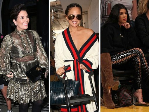 Spring is Here, but Celebs Are Still Married to Moody Black Bags from Céline, Chanel, & Gucci
