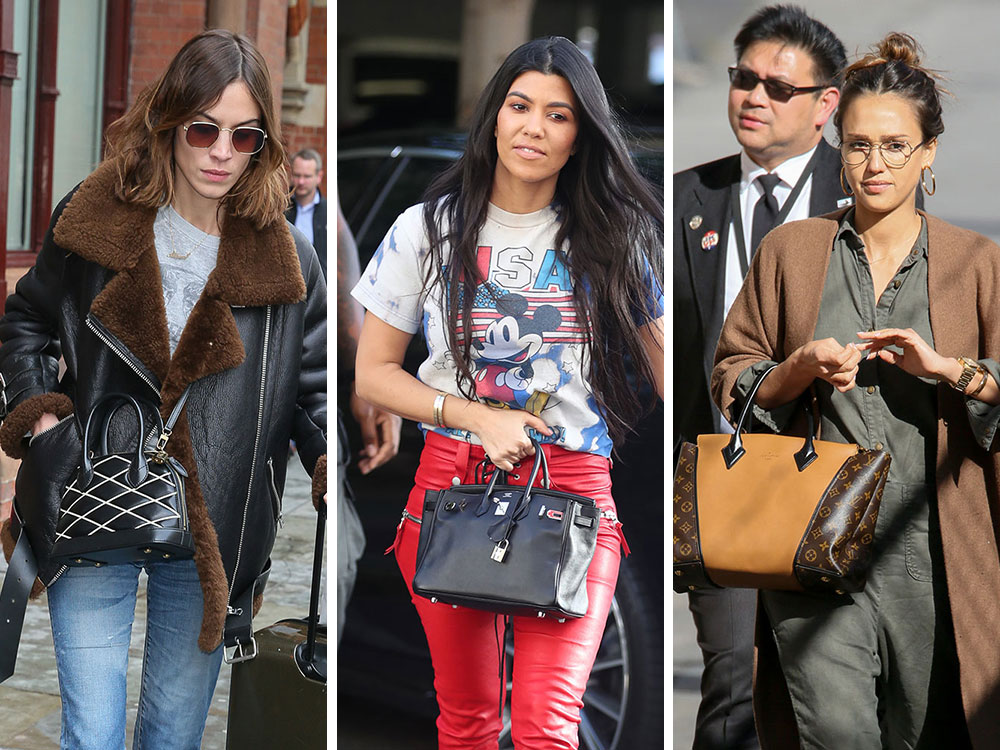 Celebs Travel By Train   Plane All Over the US and Europe with Bags from  Louis Vuitton   Gucci a956252c075a7