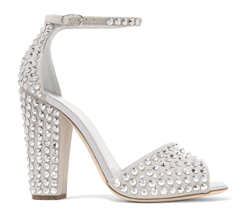 Silver Wedding Shoes 61 Lovely Giuseppe Zanotti Crystal Embellished