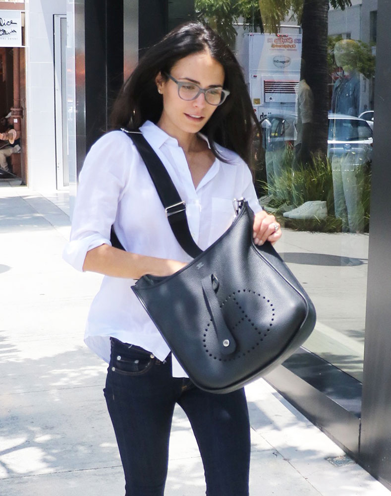 just can 39 t get enough jordana brewster and her herm s evelyne bags purseblog. Black Bedroom Furniture Sets. Home Design Ideas