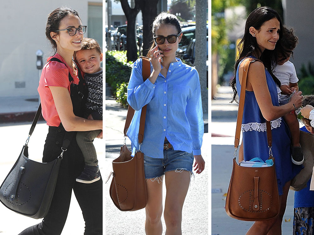 0788882fbc8b Just Can t Get Enough  Jordana Brewster and Her Hermès Evelyne Bags ...