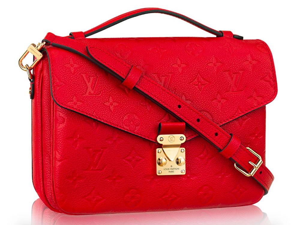 Louis Vuitton Pochette Metis Monogram Empreinte Red