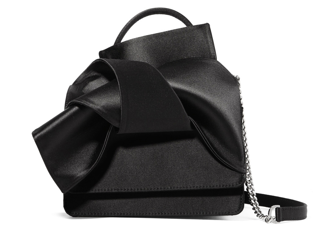 NO. 21 Knot Satin Shoulder Bag