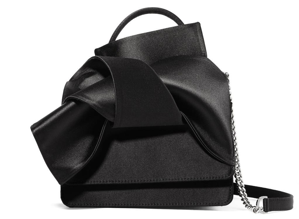 NO. 21 Knot Satin Shoulder Bag