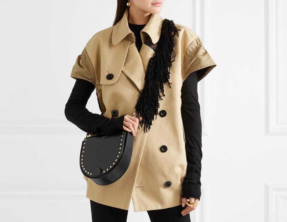 Sacai Horseshoe Fringe Shoulder Bag