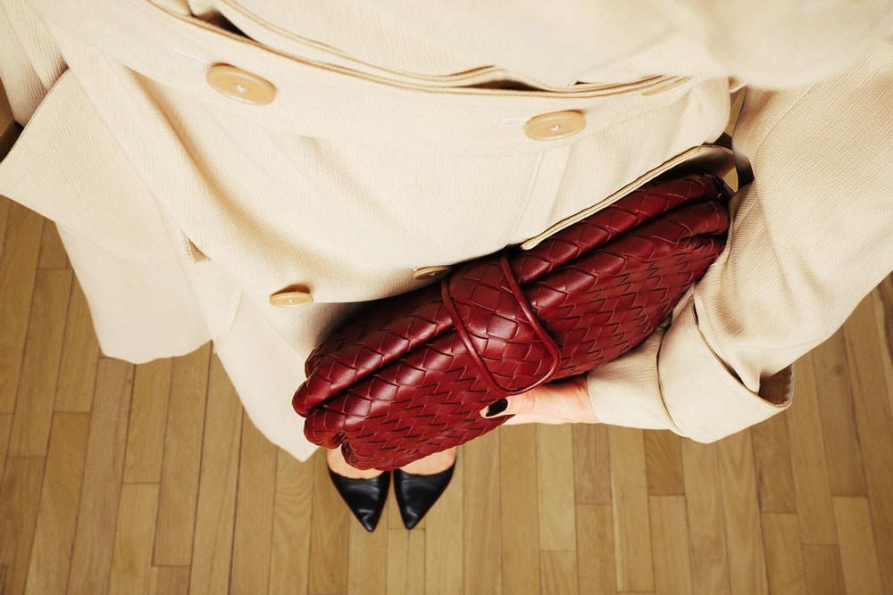 The Lauren 1980 leather clutch Bottega Veneta AmRYHWa