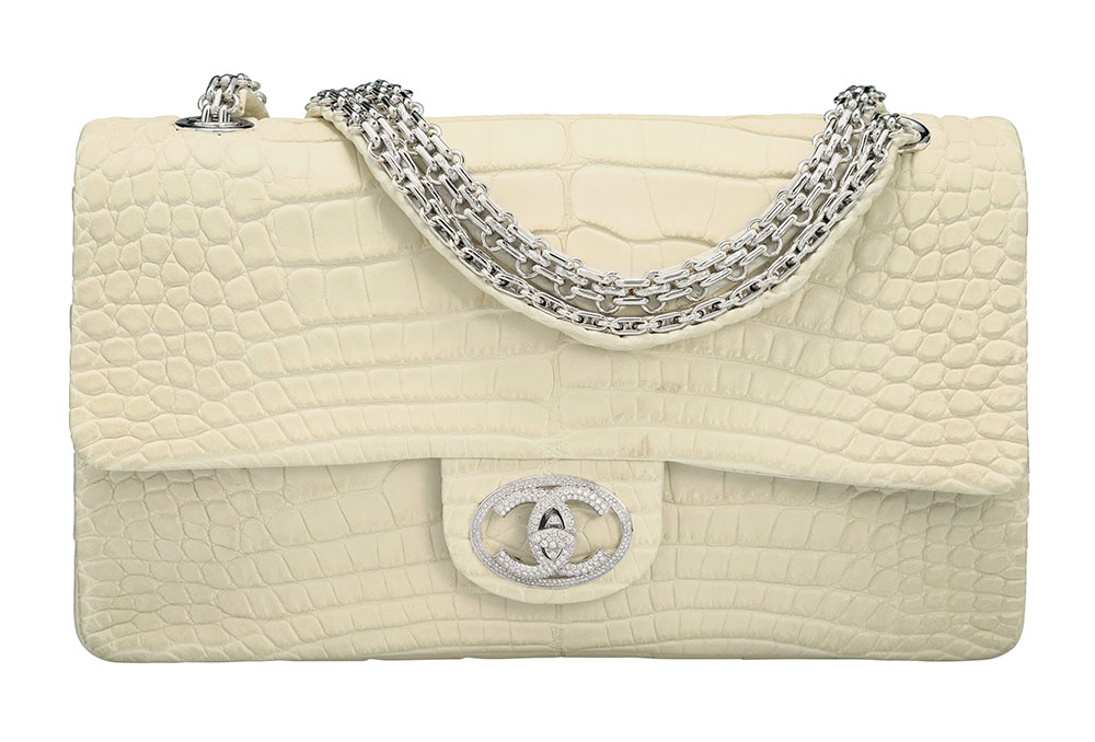 6890bfd9dbca00 Chanel Alligator Flap Bag with Diamond Hardware, $94,000 via Heritage  Auctions