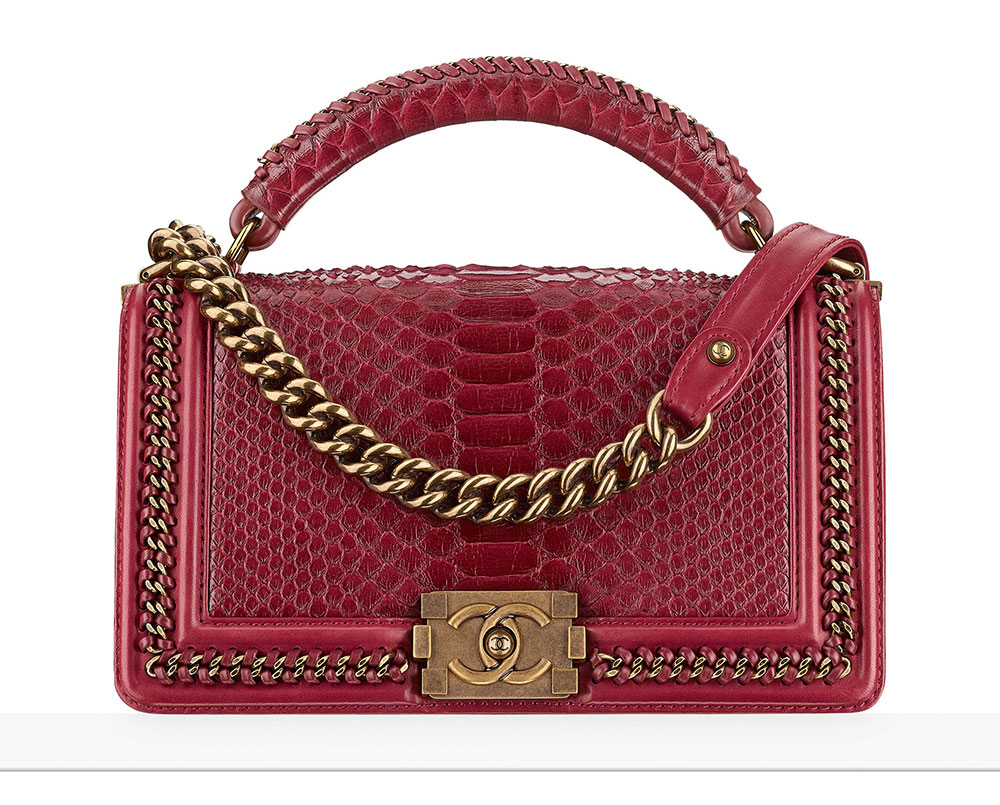 b7ed5fe17316 Chanel-Boy-Bag-with-Top-Handle-Python-7700 - PurseBlog