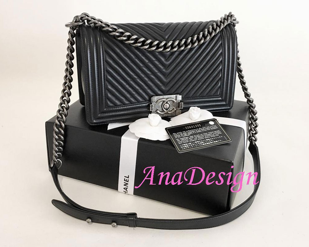 Chanel Chevron Boy Bag