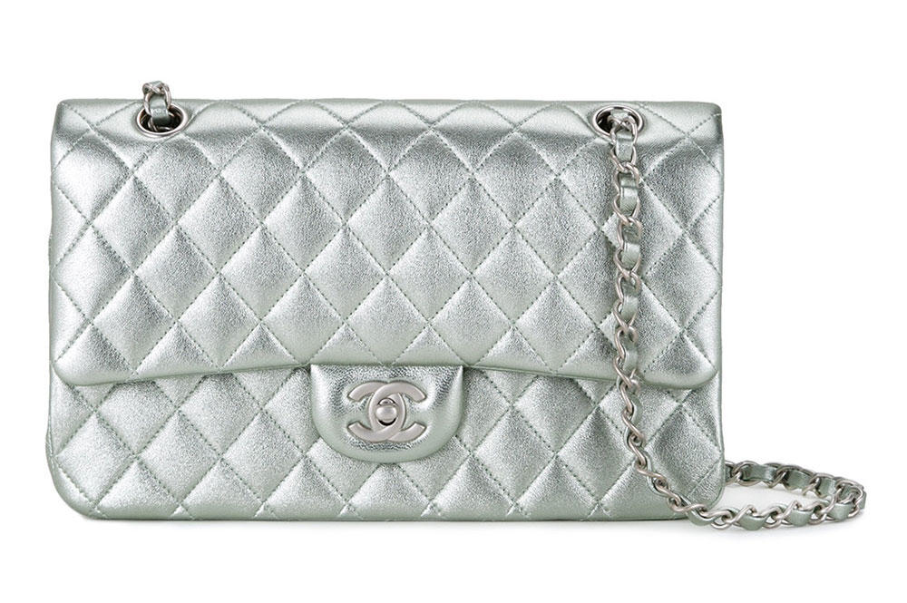 Chanel Classic Flap Bag Silver