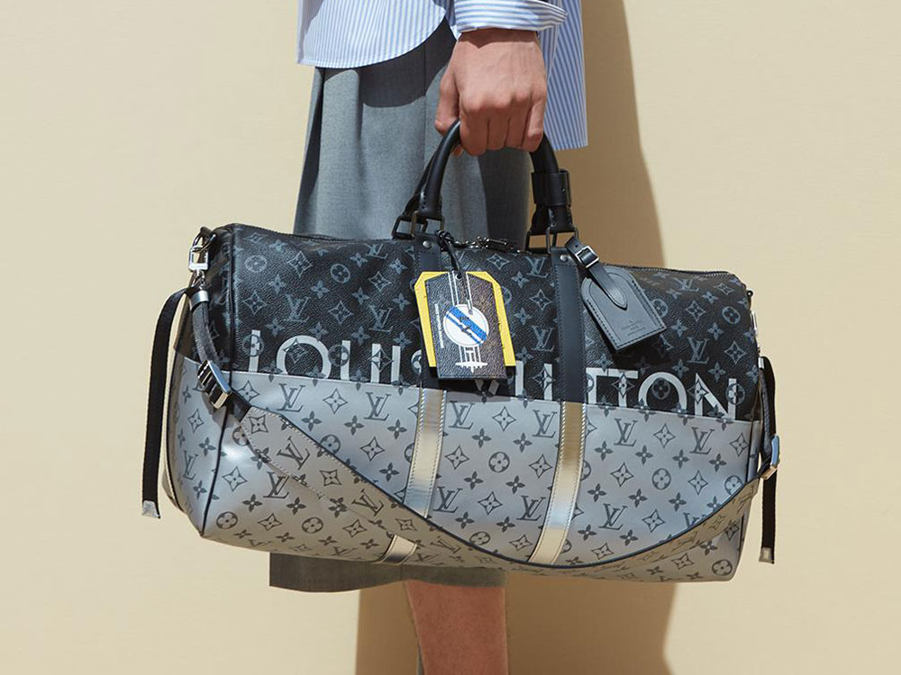 c6b20034a834 Louis Vuitton Introduces New Monogram Split at Men s Spring 2018 Runway  Show - PurseBlog